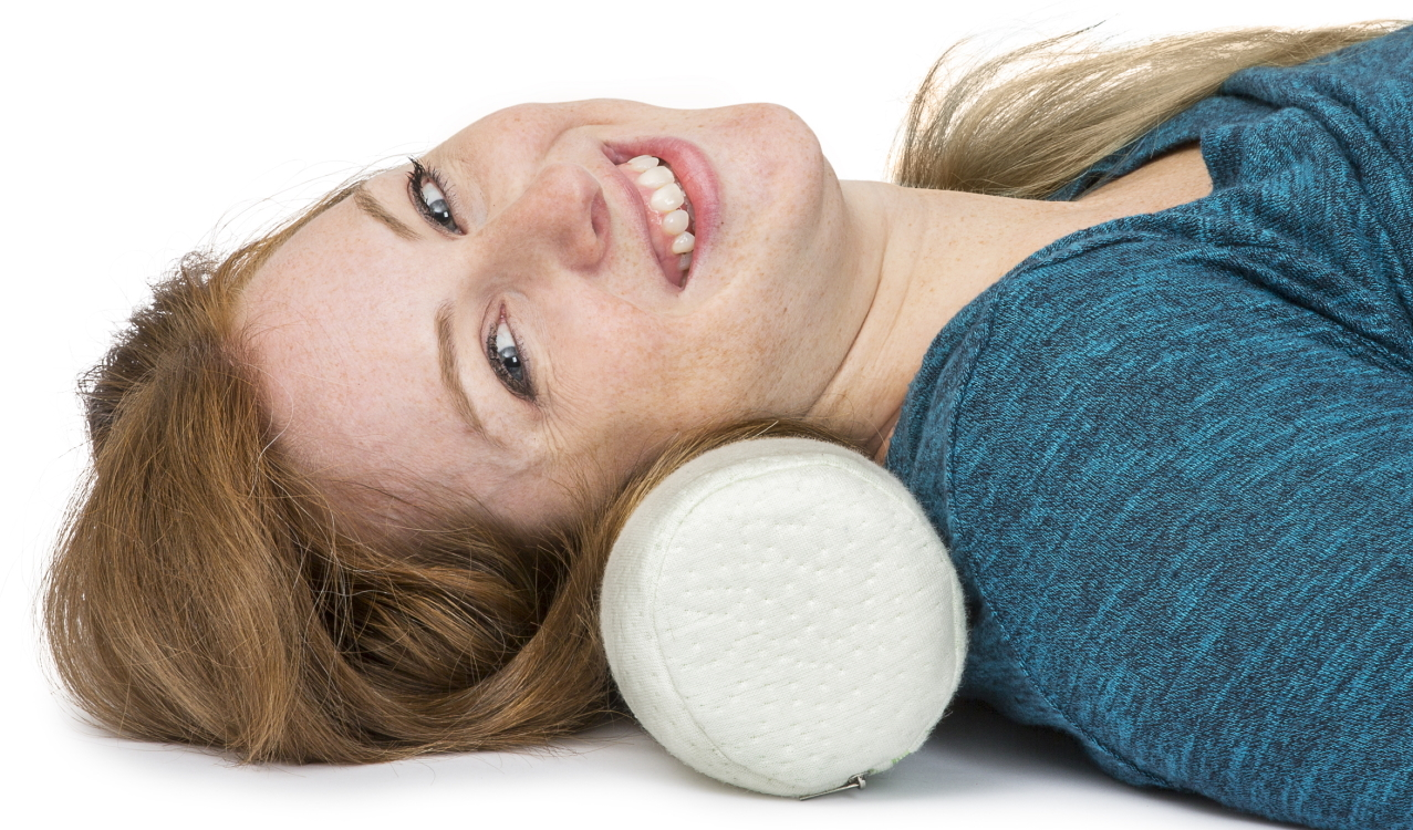 Bolster pillow for neck pain